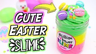 DIY CUTE EASTER SLIME! How To Make Slime For Easter!
