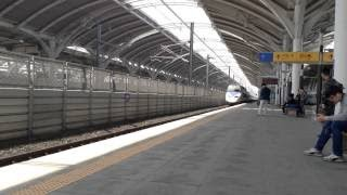 KORAIL 韓国鉄道 五松駅に到着するKTX 韓国高速鉄道