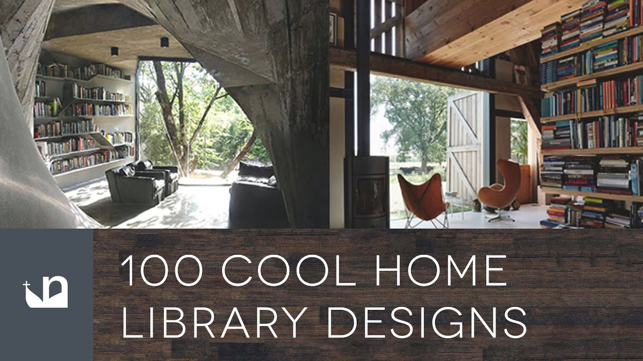 Contemporary Home Library 100 cool home library designs - reading room ideas - youtube