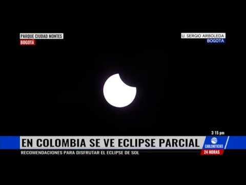 Así se vio el eclipse total de sol en Colombia
