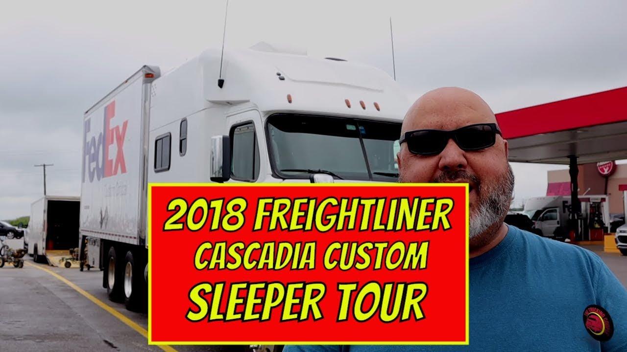 Aa Custom Sleeper Tour 2018 Freightliner Cascadia Fedex Custom