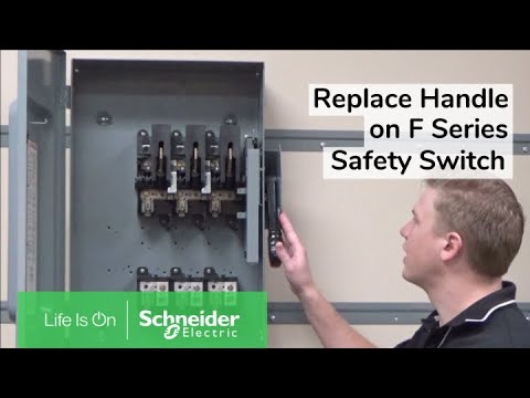 Replacing Operating Handle & Lock Plate on F Series Safety Switch |  Schneider Electric Support