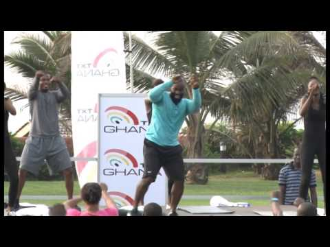 TXT Ghana's Corporate Aerobics Session at La Palm