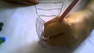 2 часть рисуем аниме в свадибном платье