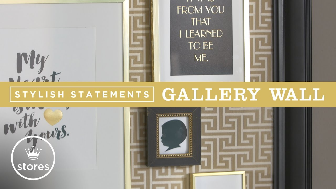 Gallery Wall Ideas with Stylish Statements | DIY with Will Brown ...