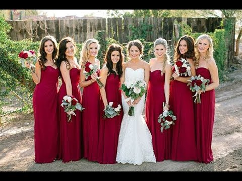 WINE BRIDESMAID DRESSES & GOWNS
