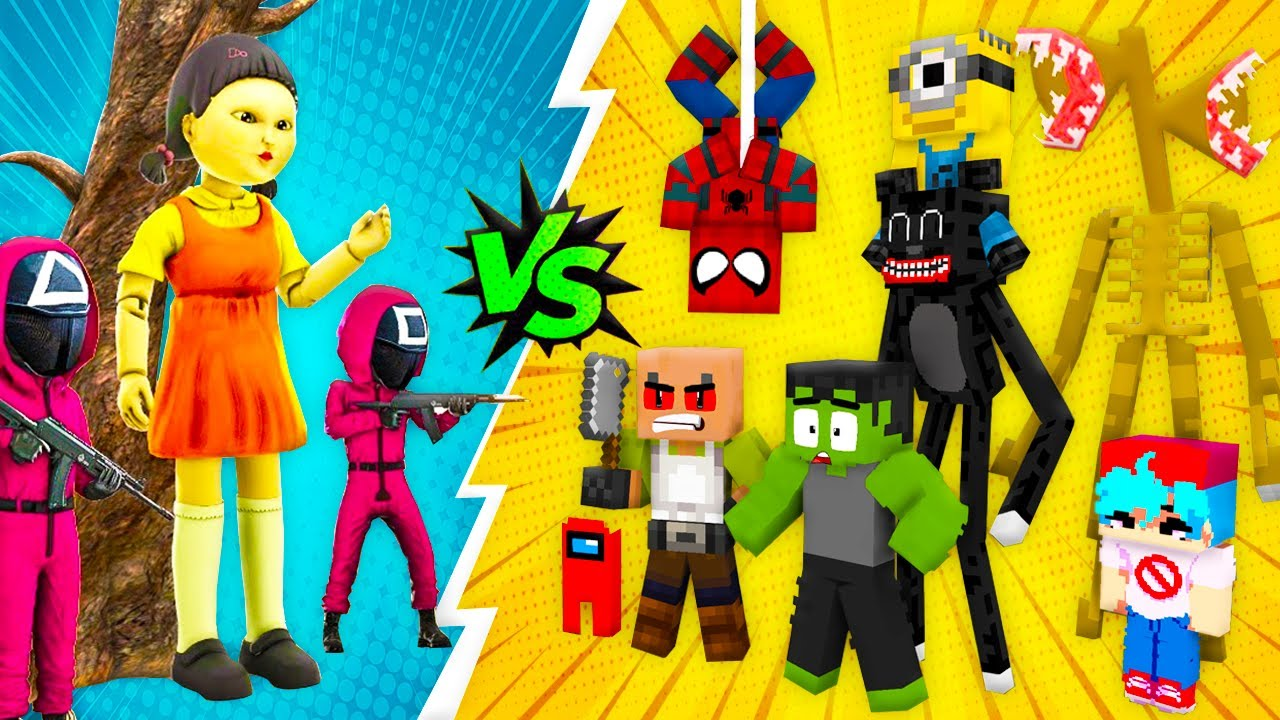 SQUID GAME with SUPERHEROES - Red Light Green Light Challenge - Sad Story Minecraft Animation Roblox