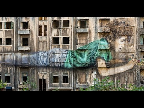 Beirut Digital District وجدارية بريشة فنان كوبي في الباشورة خندق الغميق