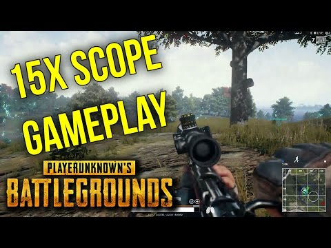 15x Scope Is Amazing! - BATTLEGROUNDS SQUADS