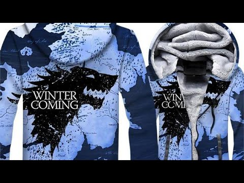 Game Of Thrones Hoodies Winter Is Coming Print 3D Jackets For Men 7/26/2019 16:13