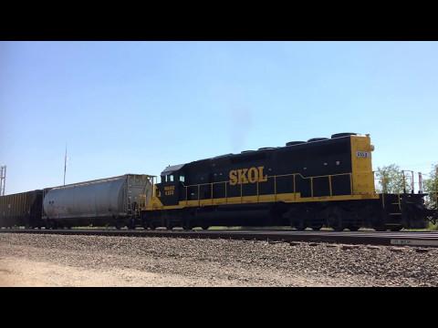 SKOL, Southern Kansas Oklahoma Short Line. WAMX. Mixed Freight