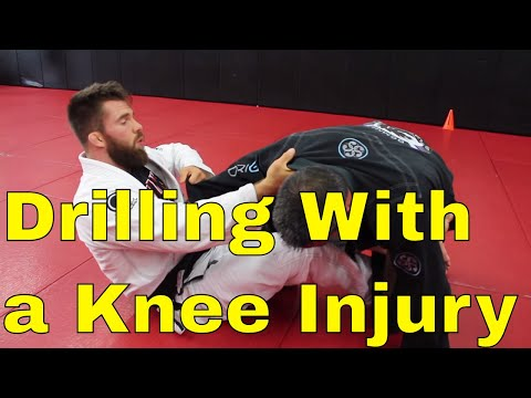 BJJ Drilling Session - Open Guard Sweeps with a Knee Injury