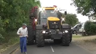 Escorting the Legend in his Monster tractor!