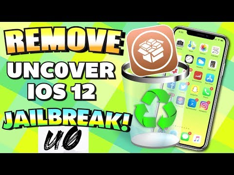 UNINSTALL / REMOVE iOS 12 - 12.1.2 Unc0ver Jailbreak WITHOUT Updating/Losing Data - UNJAILBREAK
