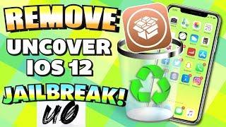 UNINSTALL / REMOVE iOS 12 - 12.1.2 Unc0ver Jailbreak WITHOUT Updating/Losing Data - UNJAILBREAK