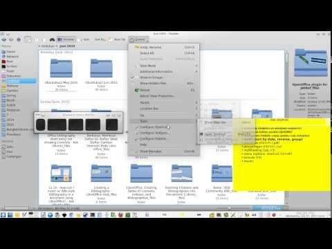 Serial Belajar Desktop Linux - KDE Dolphin File Manager