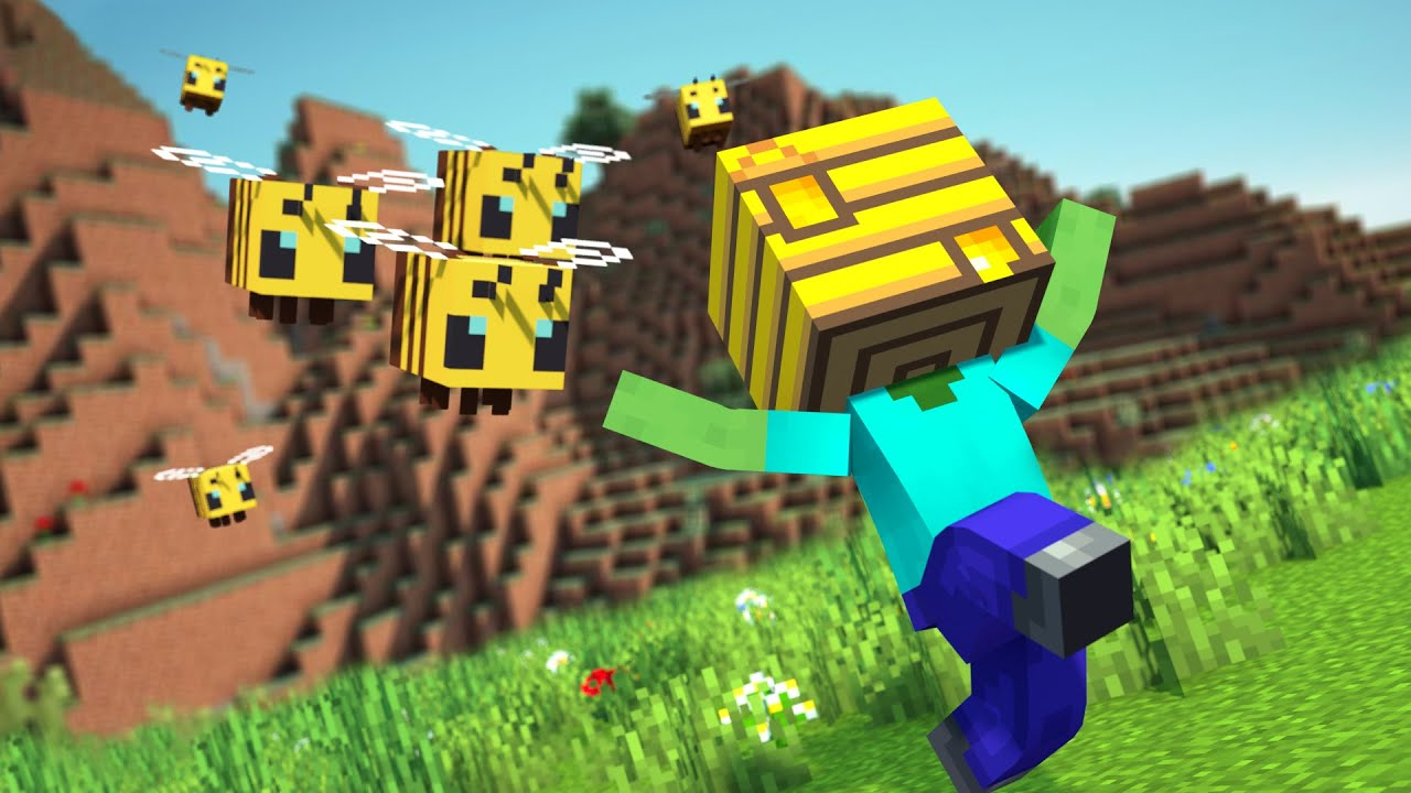 Monster School: Moving a Beehive Challenge | Minecraft Animation