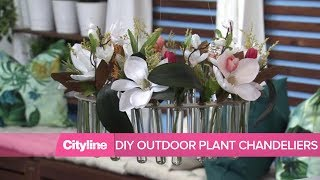 2 DIY plant chandeliers for your outdoor space