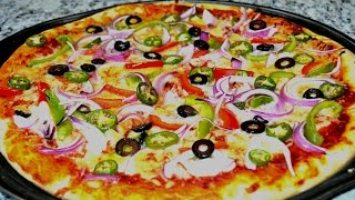 Quick N Easy Homemade Pizza Recipe Start To Finish Pizza Recipe With Dough, Sauce And Toppings