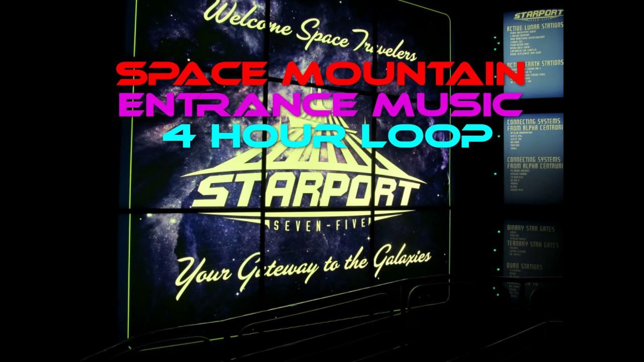 Space Mountain Entrance Music ~ 4 Hour Loop ~ Queue ...
