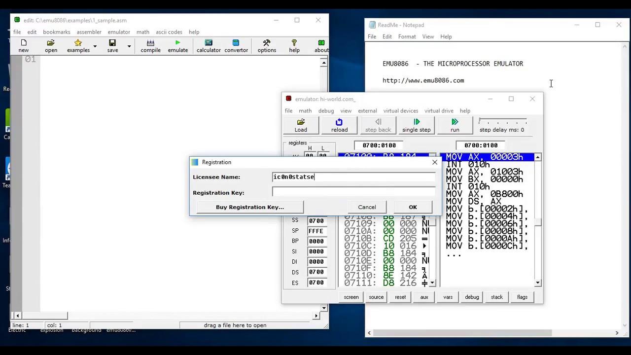 emu8086 v 4.08