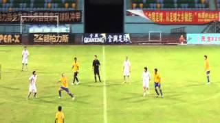 2013 Chinese Division Two League Weilong Xu plays for Meixian Hakka Football Club (Match 3)