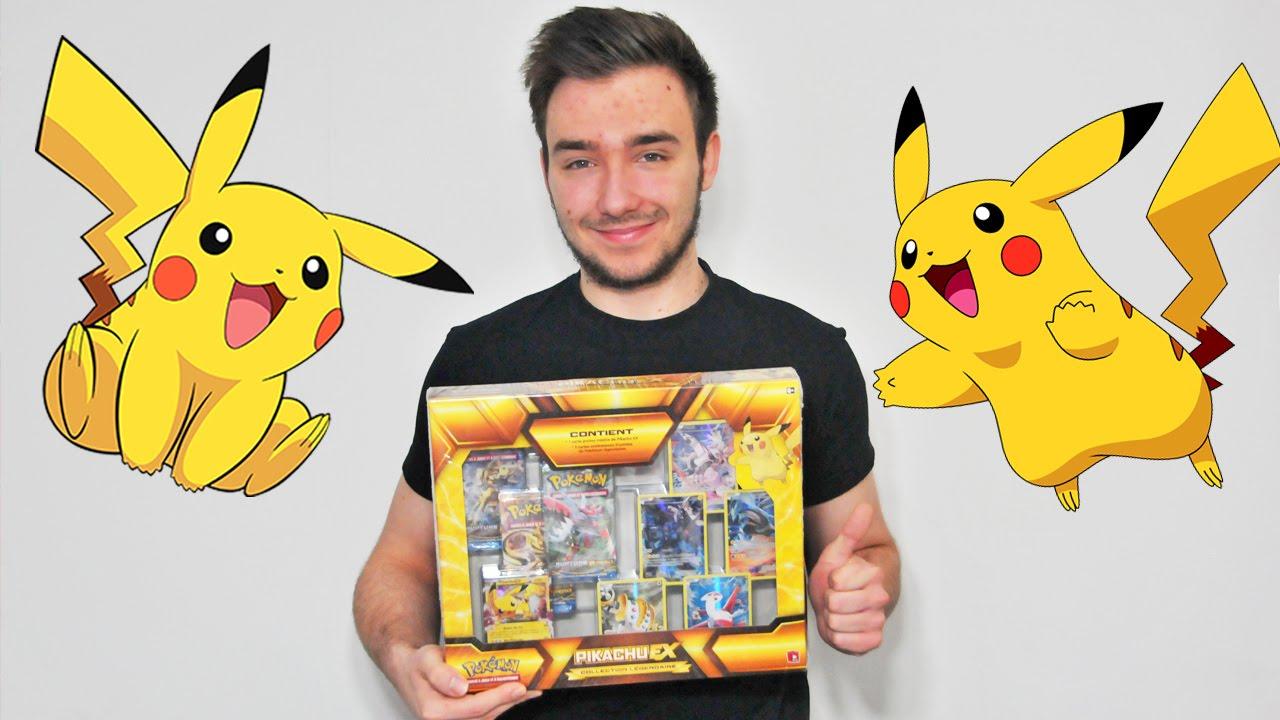 Ouverture d 39 un coffret pikachu ex fran ais exclu collection legendaire youtube - Image pokemon legendaire ...