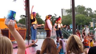 "Jake & The Neverland Pirates SHARKY & BONES ""Theme Song"" at WDW Downtown Disney August 3rd, 2012"