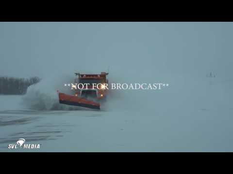 Fargo, ND - Plowing Truck Freight Train/Vehicles In Ditches/ - January 10th, 2017