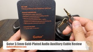 Gotor 3.5mm Gold Plated Audio Auxiliary Cable Review