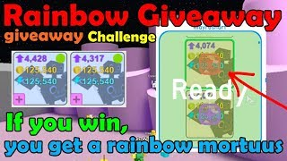 Giveaway My Rainbow Mortuus To Fans! [Challenge] Rainbow giveaway! - Pet Simulator