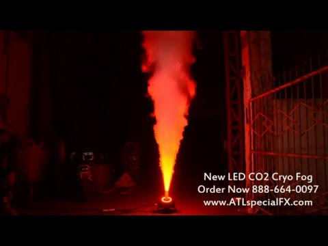 LED CO2 Cryogenic Theatrical Stage Smoke Fog Jets RGB DMX 512 From Atlanta Special FX®