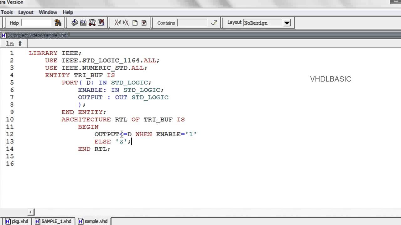 Vhdl Basic Tutorial When Else With Select Youtube