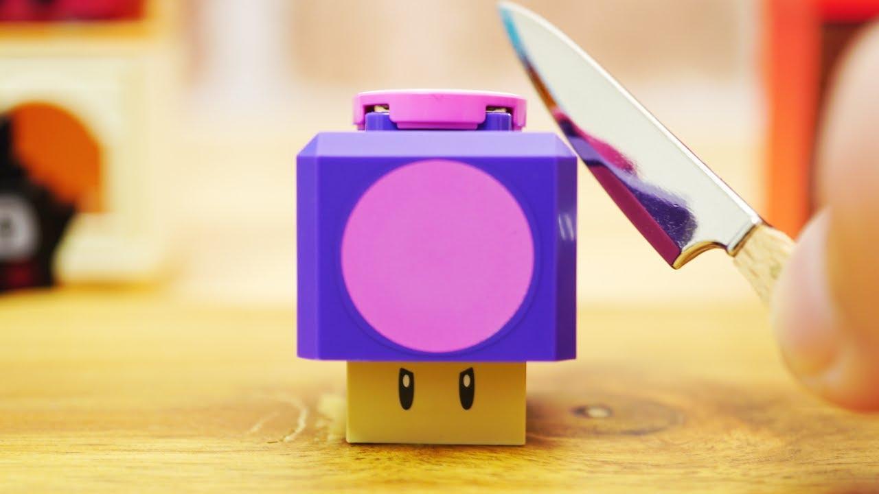 LEGO super mario StopMotion cooking!「LEGO poison mushroom」レゴマリオの不思議な料理「レゴ毒キノコマカロン」