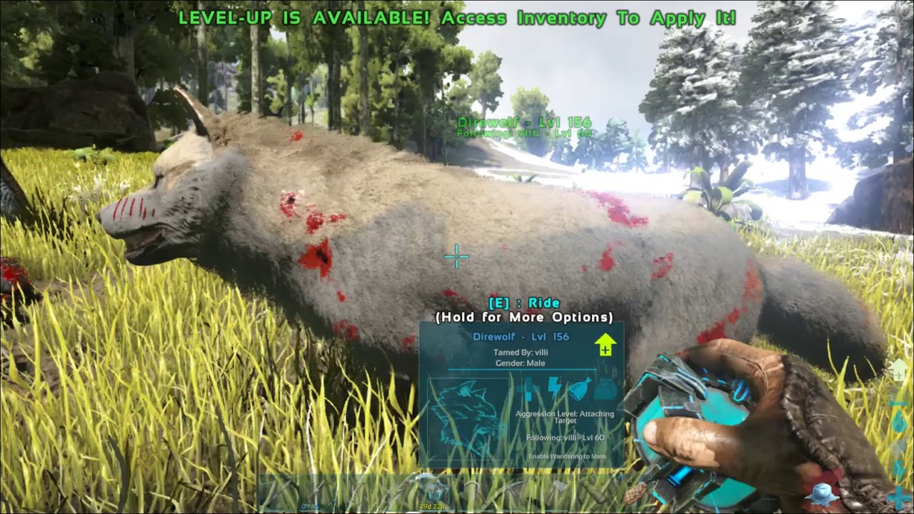 TAMING A ARGY AND AN DIREWOLF! CRYO SICKNESS? Ark survival evolved episode 2