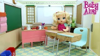BABY ALIVE OLIVIA MOSTRA A ESCOLINHA NOVA DAS BABY ALIVES オリビアノヴァ 検索動画 16