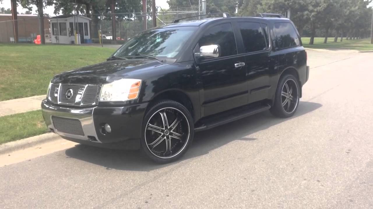 "2005 nissan armada at rimtyme durham on 24"" versante 226 and 295"