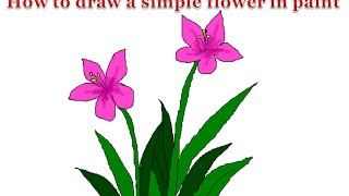 How to draw a simple flower in paint