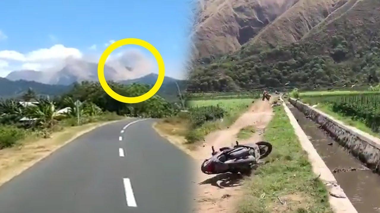 Video Detik Detik Kedahsyatan Gempa Di Lombok Yang Akibatkan Longsor Di Perbukitan Gunung Rinjani Tribun Jateng