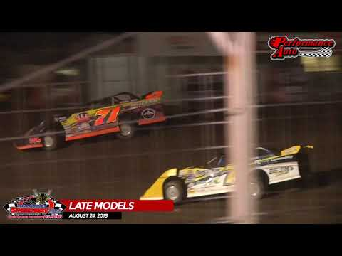 08.24.18 Performance Auto Late Models - River Cities Speedway