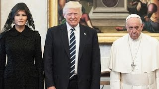Melania and Ivanka Trump Wear Black Veils to Meet Pope Francis