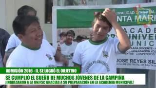 SE CUMPLIÓ EL SUEÑO DE MUCHOS JÓVENES DE LA CAMPIÑA   INGRESARON A LA UNIVERSIDAD NACIONAL JOSÉ FAUS
