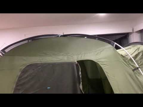 Black Wolf Tuff Dome Twin Tent Setup