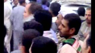 2هتاف انصار الحاج طارق عبدالعظيم أمام مدرسة الزينى بأطفيح