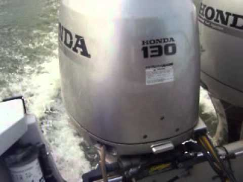 Two HONDA 130HP Outboard Motors