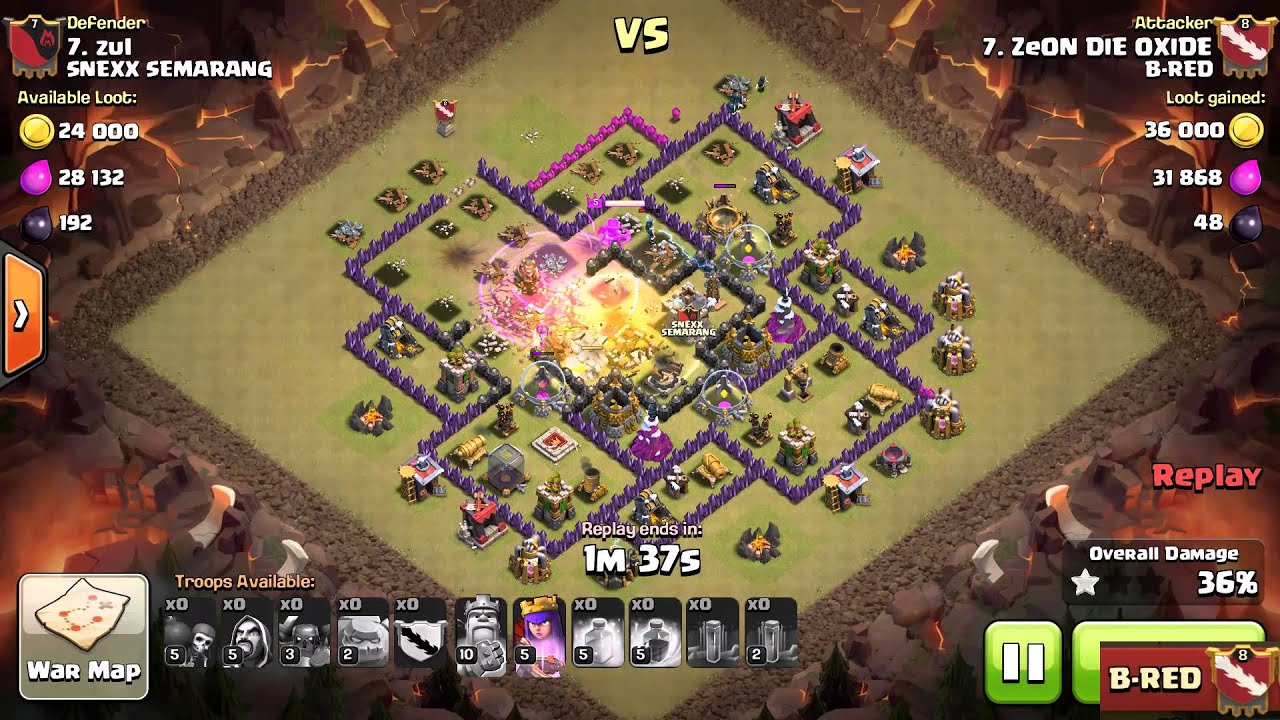 Clash of Clans | 3 Stars on TH9 Gowipe by ZeON DIE OXIDE