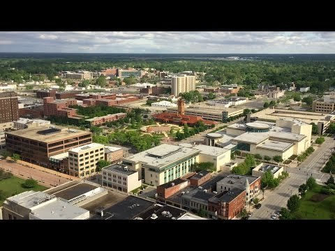 View of Springfield, Illinois from the 29th floor of the Wyndham Springfield City Centre hotel