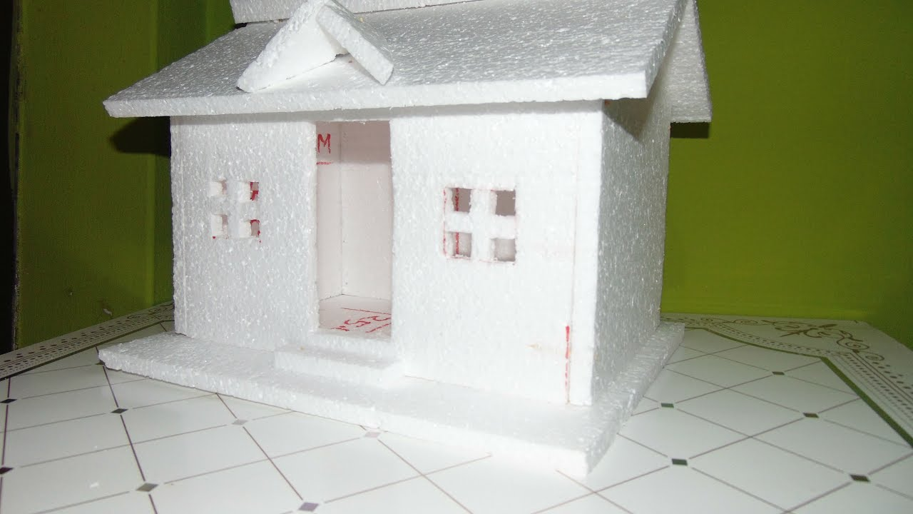 How To Make A Small Thermocol House Model | Easy Homemade Project For Kids