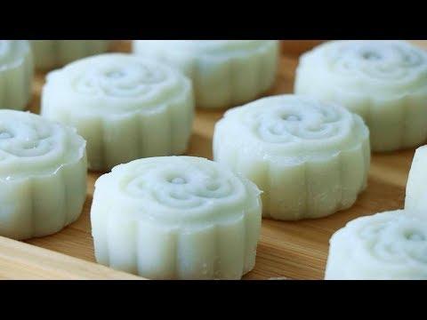 蜜豆冰皮月餅最快速的做法,配方比例告訴你,30分鐘搞定,老人孩子愛吃【夏媽廚房】