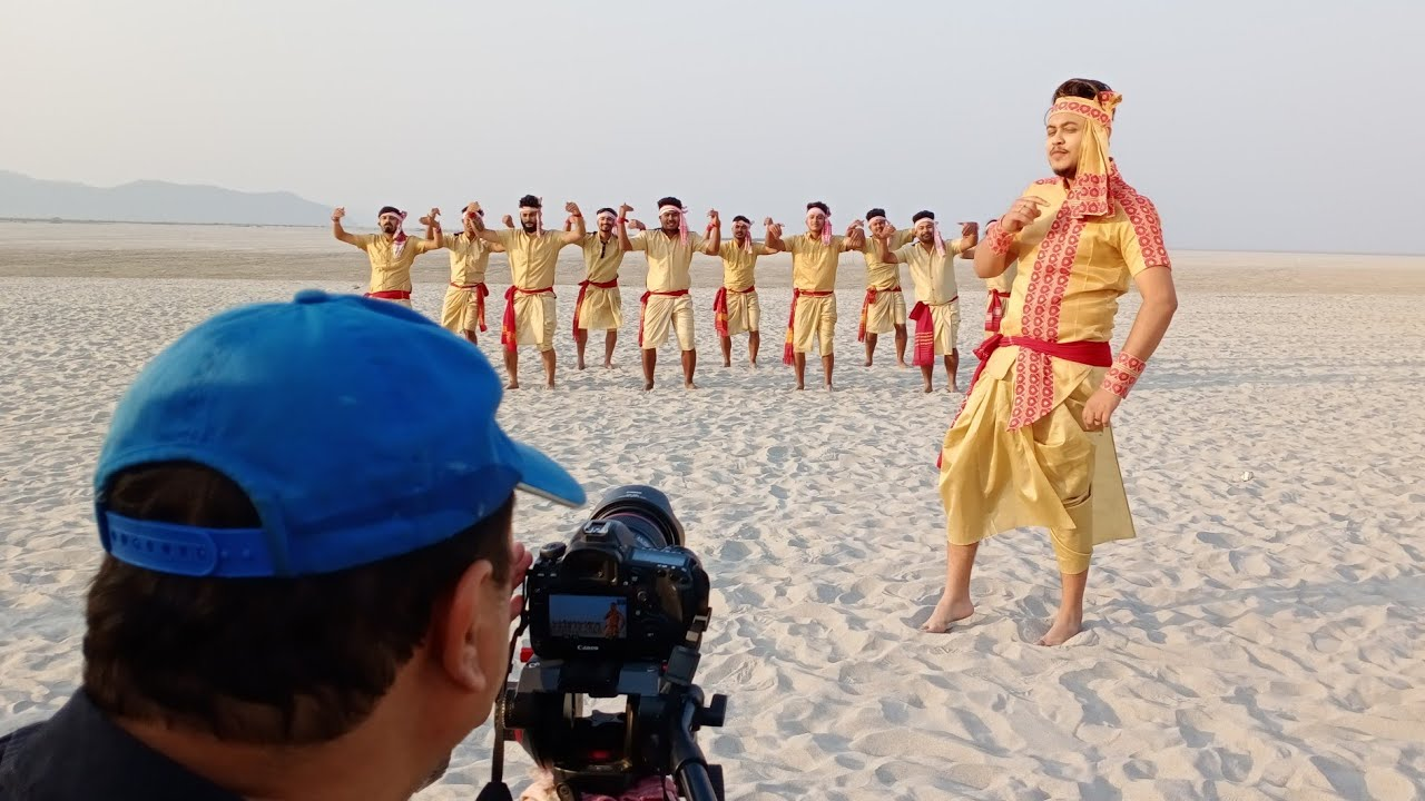 Behind-the-scenes upcoming Assamese Bihu song Nasoni-নাচনী 2020,Prince Palash, Bhukhan Pathak